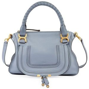 Chloé Marcie Medium Washed Blue Leather